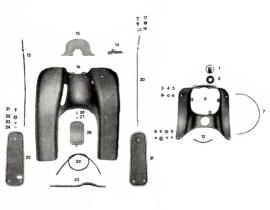 Lámpaház takaró- és lábtartólemez KR51/1