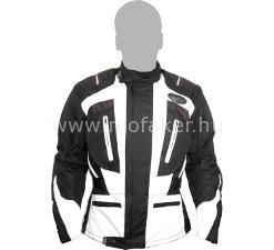 Textilkabát GS-161 fekete-fehér hosszú L Rush-M MO-FA-KER Kft. 12023a8d1d